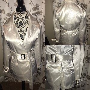 New Arrival.. white sexy Silky Jacket Sm Max Rave